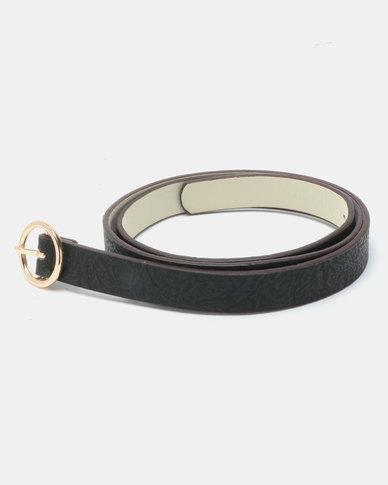 Joy Collectables Ring Buckle Belt Black