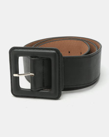 Joy Collectables Square Buckle Belt Black