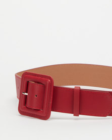 Joy Collectables Square Buckle Belt Red
