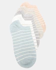 Joy Collectables 5 Pack Stripe Ankle Socks Multi