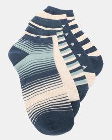 Joy Collectables 5 Pack Patterned Ankle Socks Multi