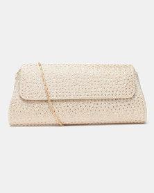 Joy Collectables Rhinestone Clutch Bag Gold