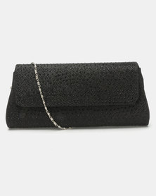 Joy Collectables Rhinestone Clutch Bag Black
