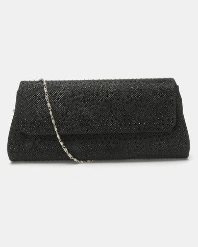 Joy Collectables Rhinestone Clutch Bag Black