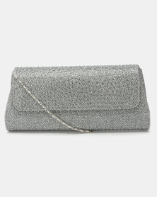 Joy Collectables Rhinestone Clutch Bag Silver
