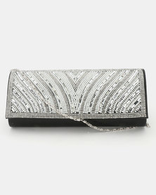 Joy Collectables Diva Clutch Bag Black/Silver