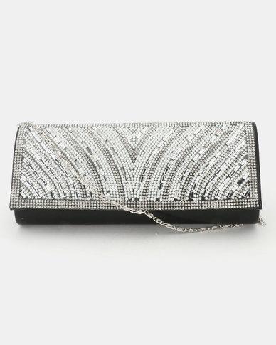 Joy Collectables Diva Clutch Bag Black/Silver
