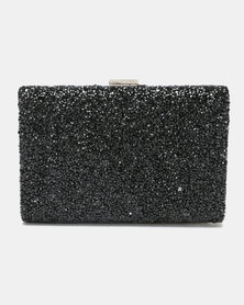 Joy Collectables Jewelled Out Clutch Black