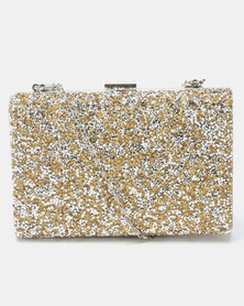 Joy Collectables Jeweled Out Clutch Gold