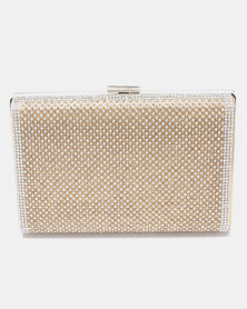 Joy Collectables Structured Clutch Gold