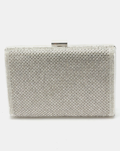 Joy Collectables Structured Clutch Silver