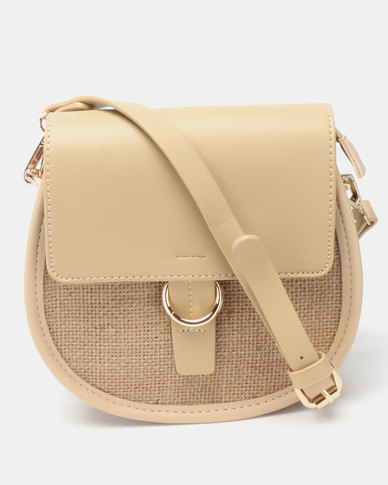 461bcdd4445a Joy Collectables Simple Crossbody Bag Tan