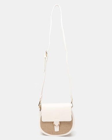 Joy Collectables Simple Crossbody Bag White