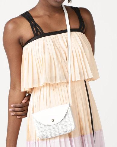 e7ca82ae951 Joy Collectables Textured Crossbody Bag White