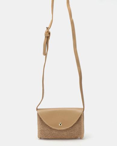 Joy Collectables Textured Crossbody Bag Nude