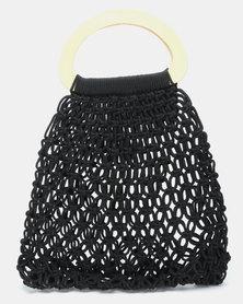 Joy Collectables Crochet Shopper Black