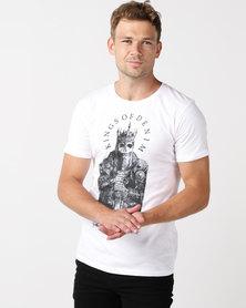 Kings Of Denim SKELETON KING T-Shirt White