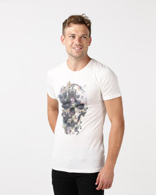 Kings Of Denim KINGDOM SKULL T-Shirt Cream