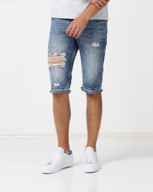 Kings Of Denim G6XR Drop Crotch Stellar Shorts Light Blue
