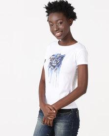 Diva TIGER T-Shirt White