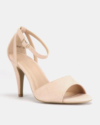 New Look Saxon Cone Heel Sandals Oatmeal