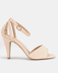 New Look Saxon Cone Heel Sandals Oatmeal