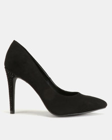 New Look Yumming Suedette Courts Black