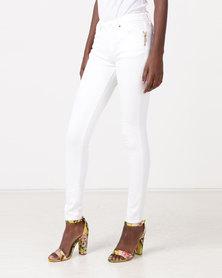 Diva Jeans Coco Mid Rise Skinny Diamond White
