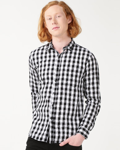 Utopia Check Shirt Black