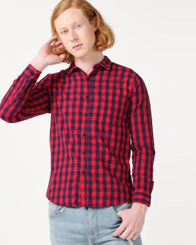 Utopia Check Shirt Red