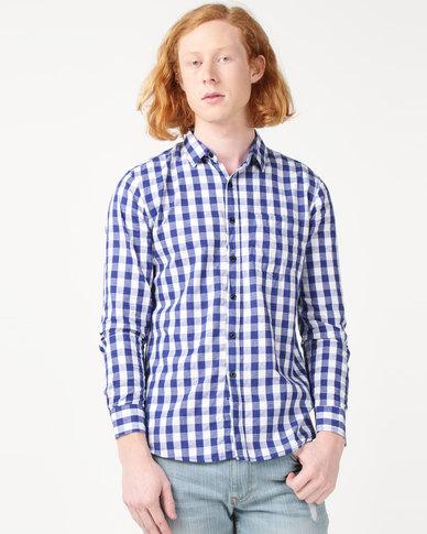 Utopia Check Shirt Light Blue