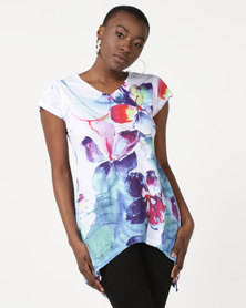 Utopia Brights Print Tee Floral