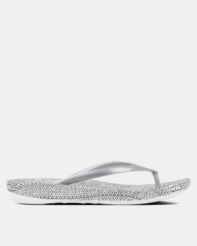 FitFlop iQushion Snakeprint Silver mix