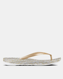 FitFlop iQushion Snakeprint Gold mix