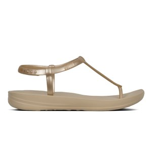 1a532869f18c FitFlop iQushion Metallic Splash Pearlised Flip Flops Gold