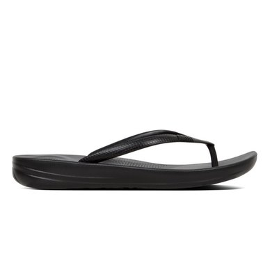 e643fd85f2a8f FitFlop iQushion Sparkle Flip Flops Black