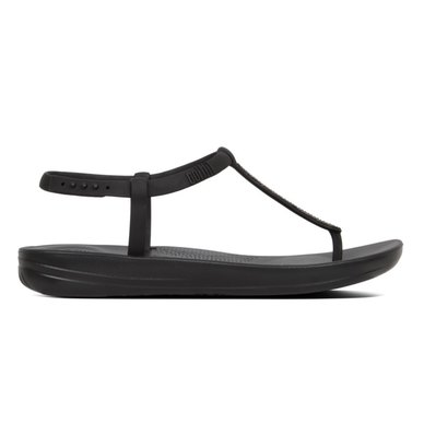 42391b8cd706e6 FitFlop iQushion Splash Sparkle Flip Flops Black