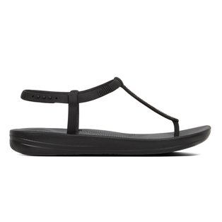 a8e6873929b109 FitFlop iQushion Splash Sparkle Flip Flops Black