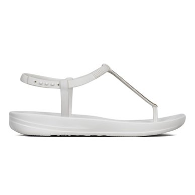 7256a37f5f124 FitFlop iQushion Splash Sparkle Flip Flops Urban White