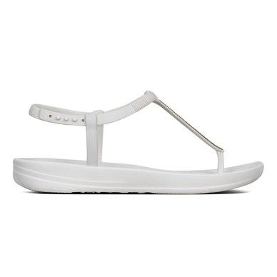 6d86cf404daf FitFlop iQushion Splash Sparkle Flip Flops Urban White