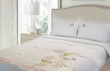 Lush Living Blossom Embroidered Duvet Comforter Set