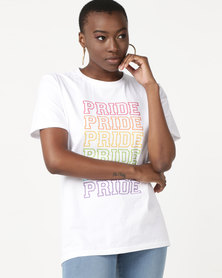 T-Shirts For Change Pride Tee Unisex White