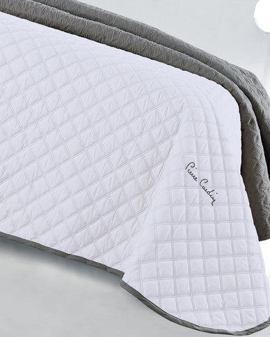 Pierre Cardin Decorative Coverlet White