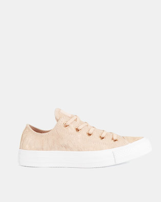 74ab5bebd10 Converse CTAS Shimmer Suede Sneakers Ox L Dusk Pink White