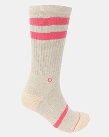 Stance Classic Uncommon Crew Socks Pink