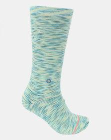 Stance Spacer Crew Socks Blue
