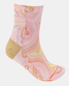 Stance Agate Socks Pink