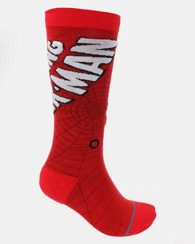 Stance Amazing Spiderman Socks Red