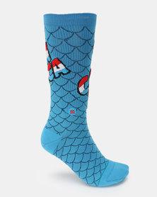 Stance Captain America Comic Socks Blue