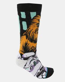 Stance Warped Chewbacca Socks Black